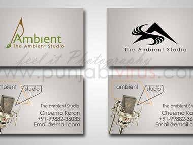 Corporate Business Card Designing - Music Studio