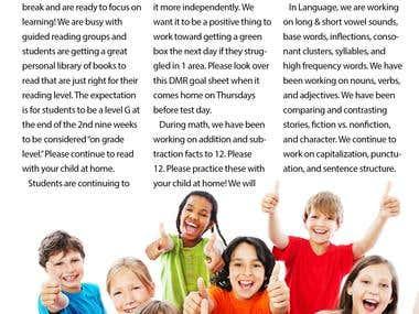 Children\'s Newsletter Design