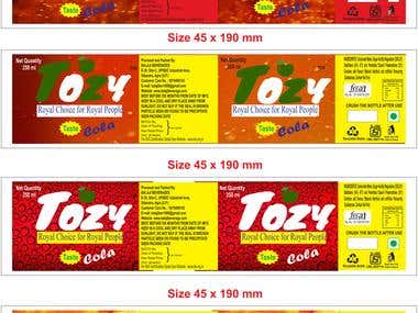 TOZY SOFTDRING COMPANY PRODUCT WRAPPER DESIGNING