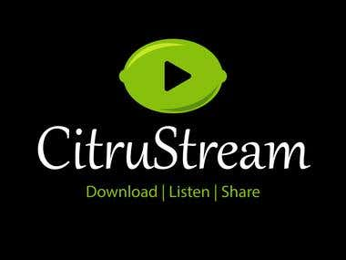 CitruStream Logo Design