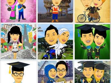 Caricature and cartoon