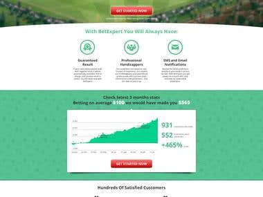 Landings for online gambling company