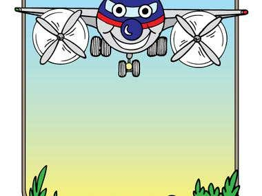 Book Illustration - Aaron the Airplane