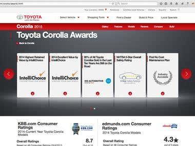 Toyora Awards Page