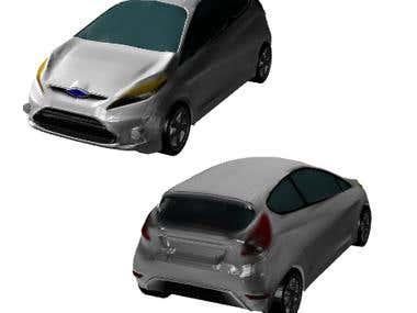 Low-Poly 3d Car model