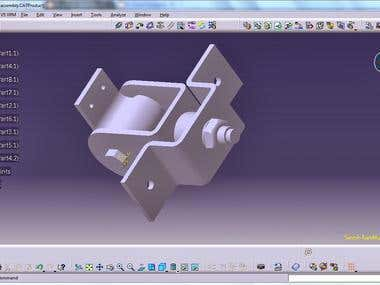 Shock Assembly Using CATIA V5: