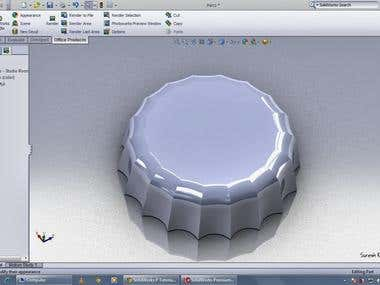 CAP rendering using solidworks