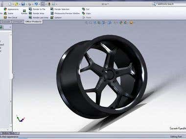 Rim using Solidworks