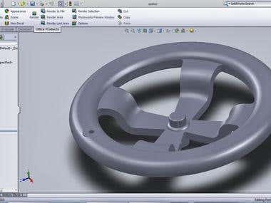Hand wheel using Solidworks