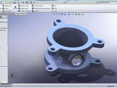 3d rendering using solidworks