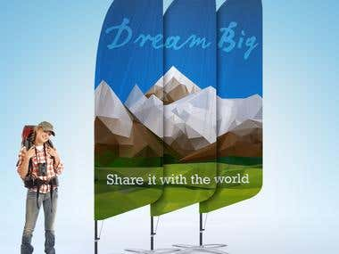 Dream big ad campagne for digital print company