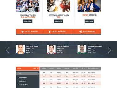 NFL sport betting design