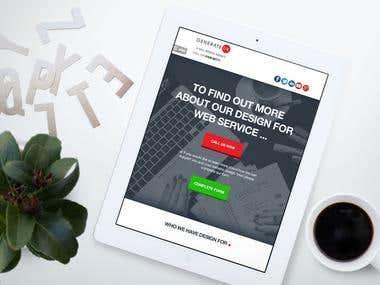Web design company landing page