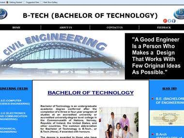 B-Tech Website