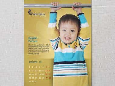 Kalendar of the fitness club
