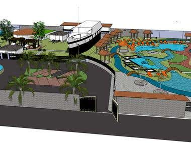 Project of Ecological Park attractions in Venezuela. Miranda
