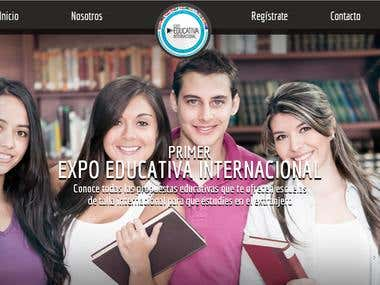 Website Expo Educativa Internacional