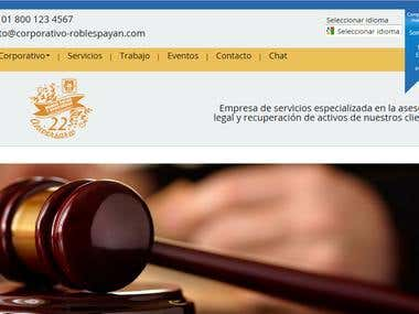 Website Corporativo Robles Payan