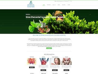 Corporate Website for SDAH