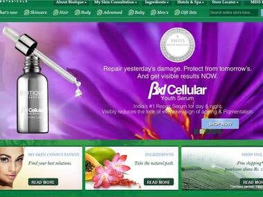 Biotique Website