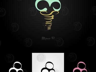 minus30 ice cream and sorbet business logo
