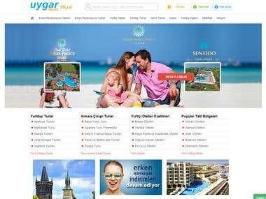 Uygartur Web Sitesi ve Backend Turizm Acentesi Yazılımı
