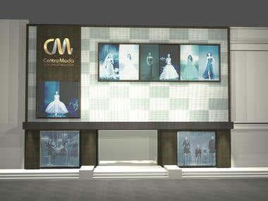 Centro moda facade design