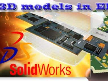 3D models in Solidworks for electronic applications