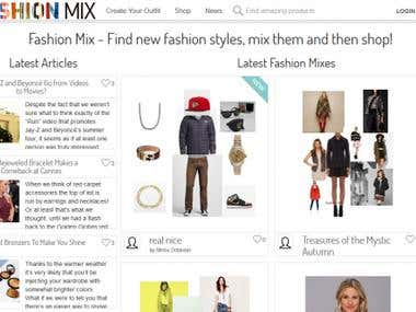 Fashion and Social Media website