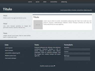 Simple WordPress template