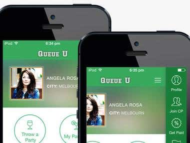 Queue U iPhone app for Events