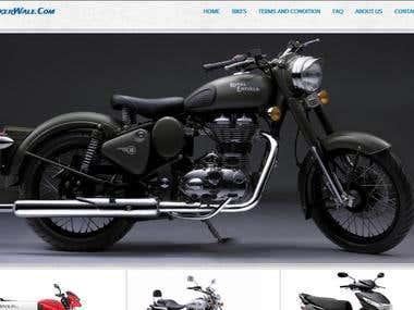 Website design on Bootstrap