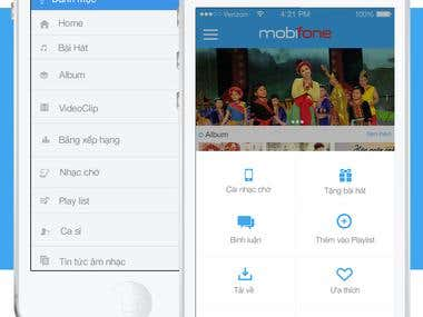 App mMuisc for Mobifone