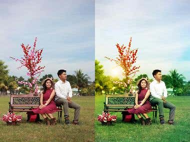 Weedding image retouching