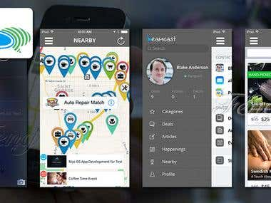 Beamcast with iBeacon