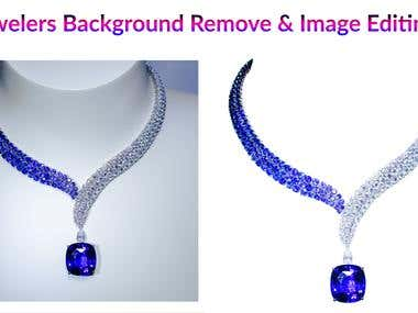 Jewelry retouch with background removed