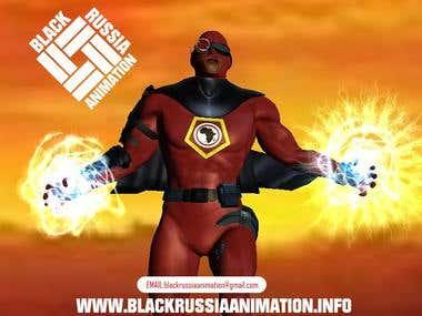 african super hero 3d