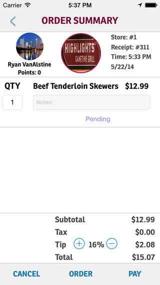 Byte restaurant app