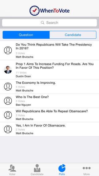 When to vote app