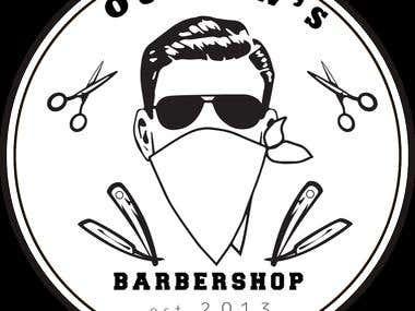 Outlaw\\\'s Barbershop Logo
