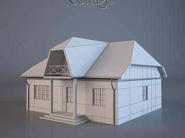 3d houses modelling
