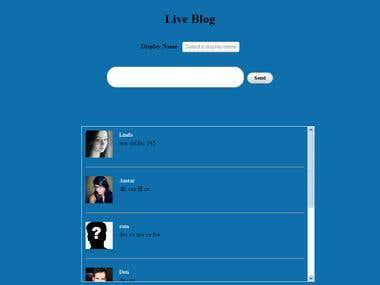 Liveblogging Web App