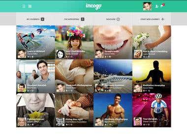 Incogo - social media app (Desktop + Mobile)