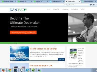 Danjan.com (genesis wordpress,  membership, speedy to load)