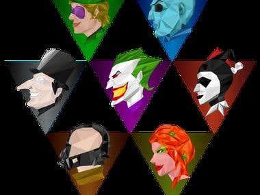 Batman Villains Icons
