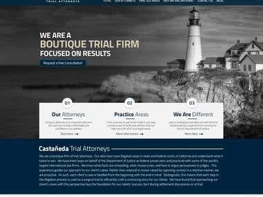 Home Page for a Law Firm