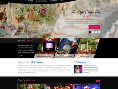 Website for an Event Organizer