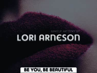 Business card for makeup artistry by Lori Arneson contest
