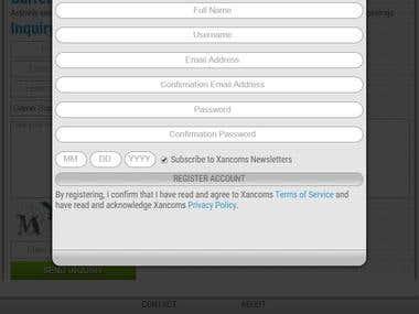 Responsive Registration Form