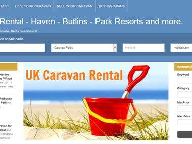 Caravan Rental Availability Calendar